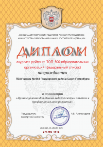 Диплом ТОП 500-1
